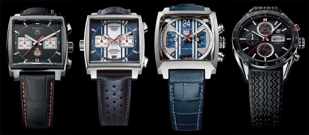 TAG Heuer's official Monaco Grand Prix chronographs.