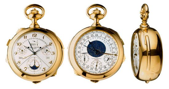 Three views of the Patek Phillippe Supercomplication.